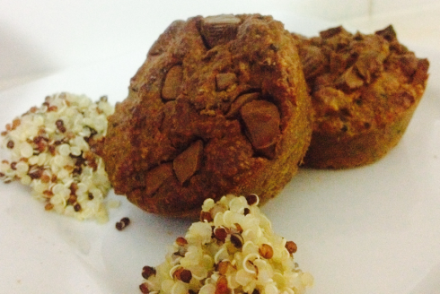 Quinoa-peanut-muffins